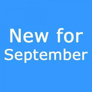 New for September