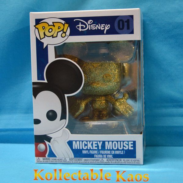FUN29174 Mickey Mouse Gold Pop 600x600 - Disney - Mickey Mouse Gold Diamond Glitter Pop! Vinyl Figure (RS) #01 + Protector