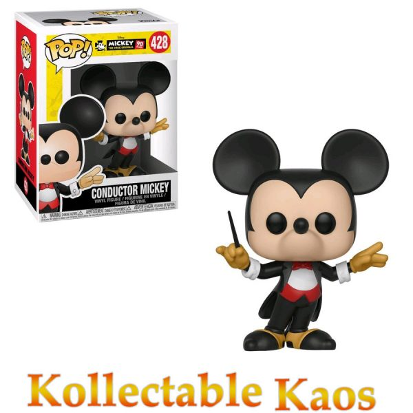 FUN32186 Disney Mickey 90th Conductor Pop Vinyl 600x600 - Disney - Conductor Mickey 90th Anniversary Pop! Vinyl Figure #428