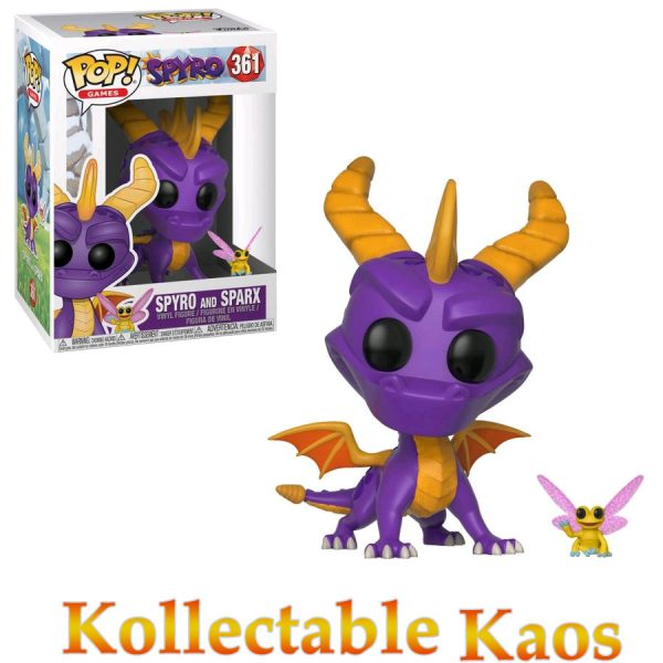 FUN32763 Spyro Spyro and Sparx Pop 600x600 - Spyro the Dragon - Spyro with Sparx Pop! Vinyl Figure #361