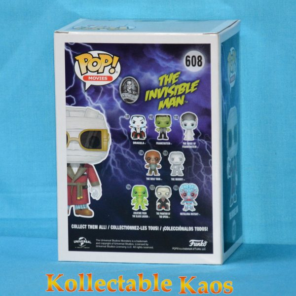 FUN32961 Monsters The InvisibleMan Pop 2 600x600 - Universal Monsters - The Invisible Man Pop! Vinyl Figure (RS) #608