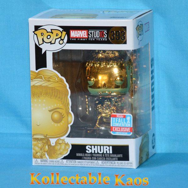 FUN33522 Marvel Chrome Shuri Pop 1 600x600 - NYCC 2018 - Marvel Studios: The First Ten Years - Shuri Gold Chrome Pop! Vinyl Figure (RS) #393