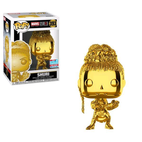 FUN33522 Marvel Chrome Shuri Pop 3 600x600 - NYCC 2018 - Marvel Studios: The First Ten Years - Shuri Gold Chrome Pop! Vinyl Figure (RS) #393