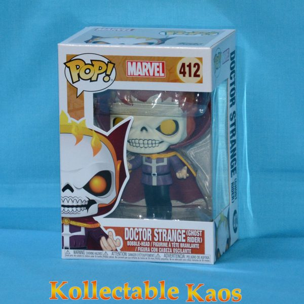 FUN34252 Marvel Dr Strange as Ghost Rider Pop 1 600x600 - Marvel - Doctor Strange as Ghost Rider Pop! Vinyl LACC 2018 (RS) #412 + Protector