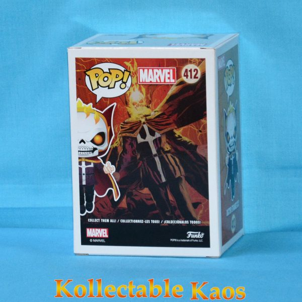 FUN34252 Marvel Dr Strange as Ghost Rider Pop 2 600x600 - Marvel - Doctor Strange as Ghost Rider Pop! Vinyl LACC 2018 (RS) #412 + Protector