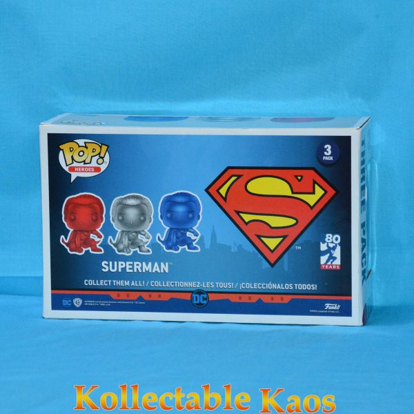 FUN35301 Superman 3Pack Pop 2 600x600 - Superman - Superman Chrome Pop! Vinyl Figure 3-Pack (2018 NYCC) (RS)