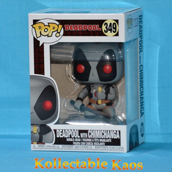 FUN31401 Deadpool Grey Chimichanga Pop 1 600x600 - Deadpool - X-Force Deadpool with Chimichanga Pop! Vinyl Figure #349