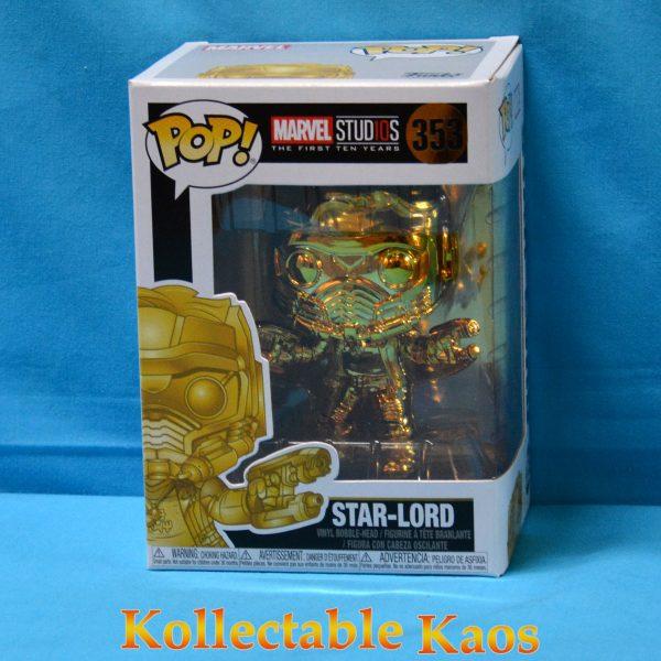 FUN34144 Marvel Studios Star Lord GD CH Pop 1 600x600 - Marvel Studios: The First Ten Years - Star-Lord Gold Chrome Pop! Vinyl Figure (RS) #353