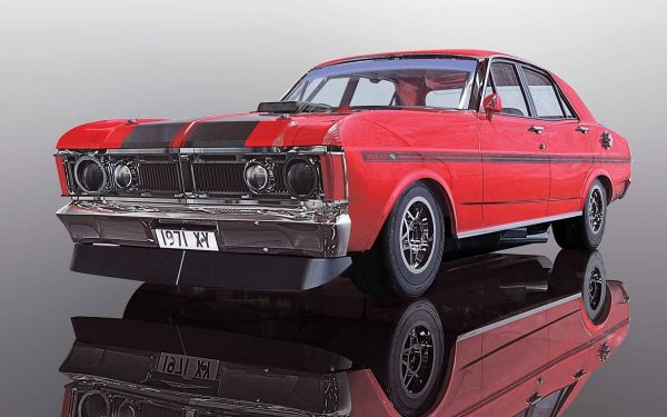 c3937 Ford XY Falcon 3 600x375 - 1:32 Scalextric - 1970 Ford XY Falcon - Candy Apple Red (C3937)