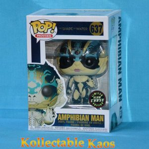 FUN32485 The Shape Of Water Amphibian Man GW Pop Chase 1 300x300 - The Shape Of Water - Amphibian Man Pop! Vinyl Figure #637 - Chase + Protector