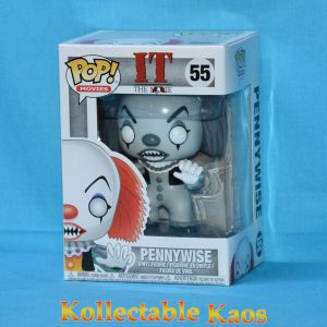 FUN35158 IT Classic Pennywise BW Pop 1 300x300 - IT (1990) - Pennywise Black & White Pop! Vinyl Figure (RS) #55
