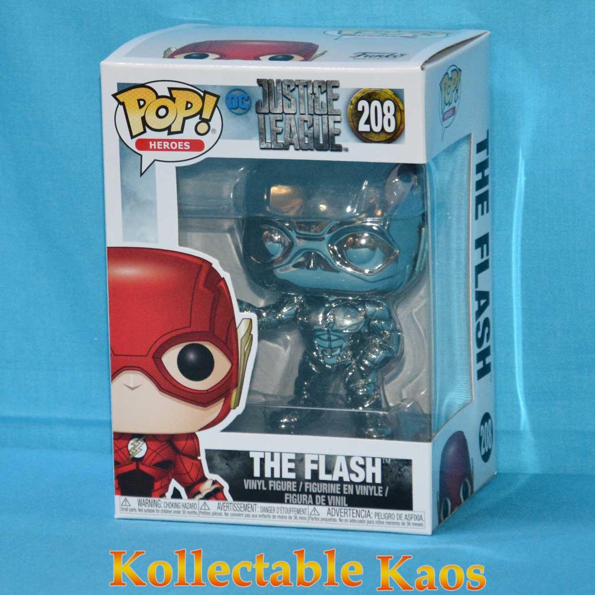 Justice League 2017 The Flash Hematite Black Chrome Pop Vinyl Figure 208 Kollectable Kaos
