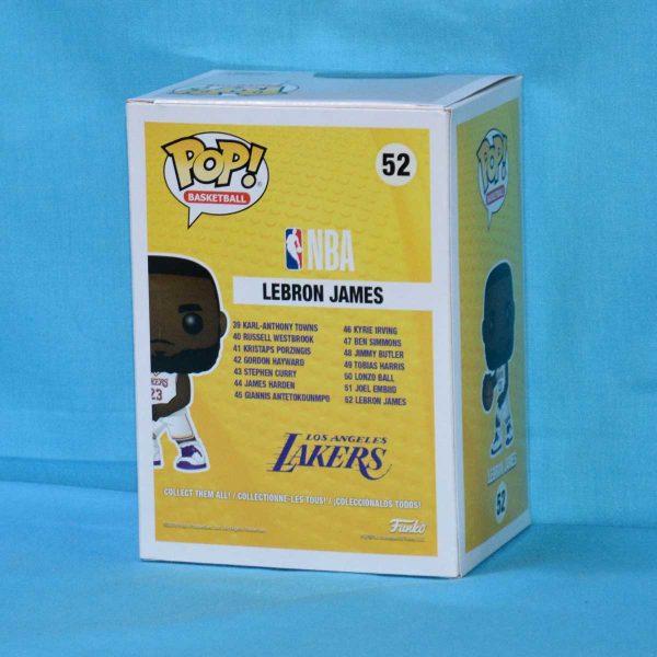 FUN37271 Lebron James White Uniform Pop 2 600x600 - NBA: Lakers - Lebron James White Uniform Pop! Vinyl Figure #52