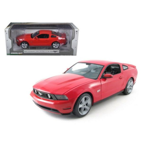 GL12813 2010 Ford Mustang 600x600 - 1:18 Greenlight - 2010 Ford Mustang GT - Red