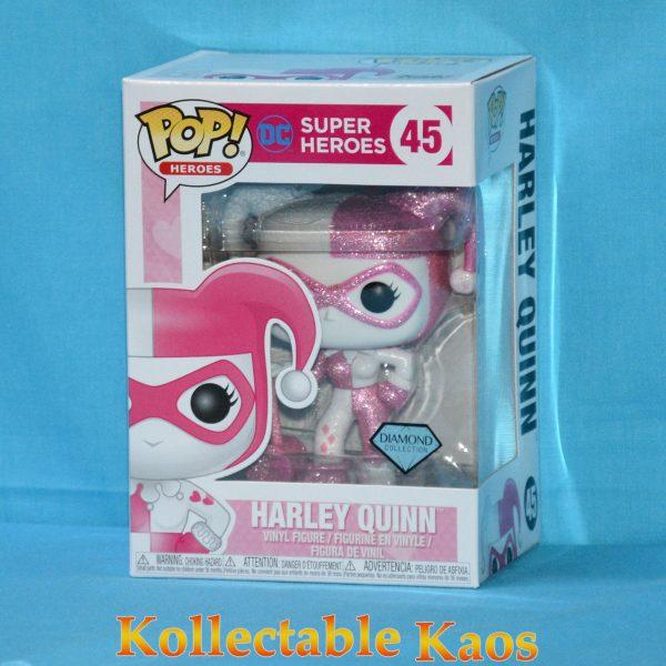 FUN34827 DC HarleyQuinn DGLT Pop 1 600x600 - Batman - Harley Quinn Pink Diamond Glitter Pop! Vinyl Figure #45 + protector