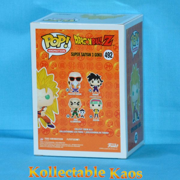 FUN34978 Dragon Ball Z SS3 Goku Pop 2 600x600 - Dragon Ball Z - Super Saiyan 3 Goku Pop! Vinyl Figure (RS) #492 + Protector