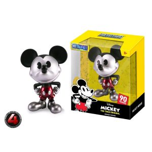 "JAD30026 mickey metal 300x300 - Mickey Mouse - 90th Mickey Black & White with Red Trousers 10cm(4"") Metals Die-Cast Action Figure"
