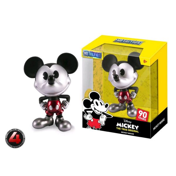 "JAD30026 mickey metal 600x600 - Mickey Mouse - 90th Mickey Black & White with Red Trousers 10cm(4"") Metals Die-Cast Action Figure"