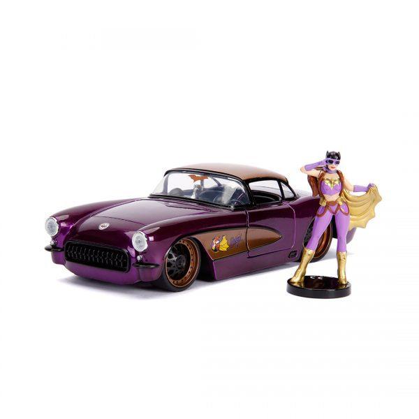 JAD30457 Batgirl Ride 1 600x600 - 1:24 Jada Hollywood Rides - 1957 Chevy Corvette - DC Bombshells Batgirl