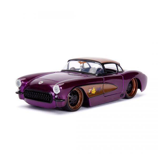 JAD30457 Batgirl Ride 2 600x600 - 1:24 Jada Hollywood Rides - 1957 Chevy Corvette - DC Bombshells Batgirl