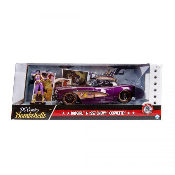 JAD30457 Batgirl Ride 3 600x600 - 1:24 Jada Hollywood Rides - 1957 Chevy Corvette - DC Bombshells Batgirl