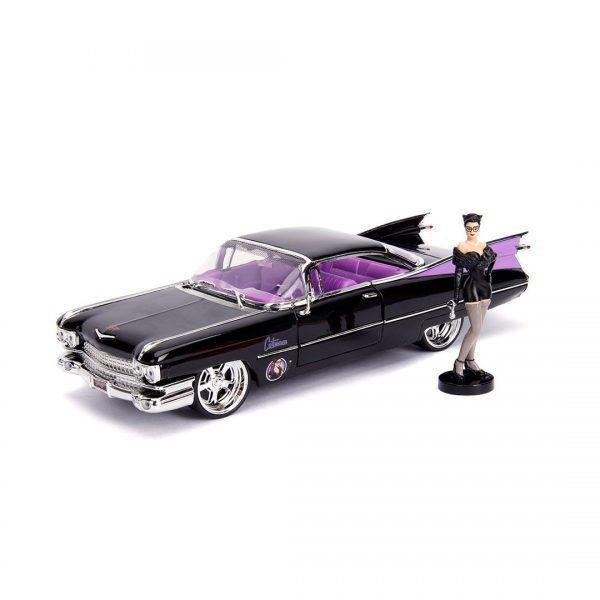 JAD30458 Catwoman Cadillac Ride 1 600x600 - 1:24 Jada Hollywood Rides - 1959 Cadillac - DC Bombshells Catwoman