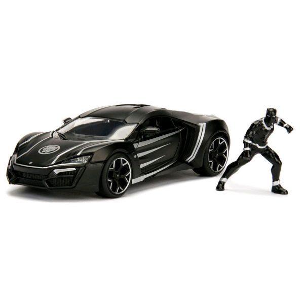 JAD99723 Black Panther Hollywood Ride 600x600 - 1:24 Jada Hollywood Rides - Lykan Hypersport - Black Panther