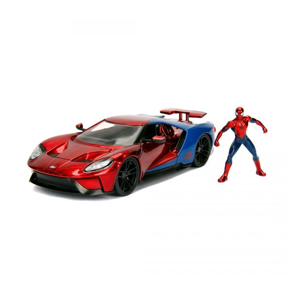 JAD99725 spiderman hollywood ride 1 600x600 - 1:24 Jada Hollywood Rides - 2017 Ford GT - Spider-Man