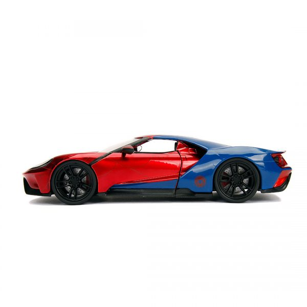 JAD99725 spiderman hollywood ride 2 600x600 - 1:24 Jada Hollywood Rides - 2017 Ford GT - Spider-Man
