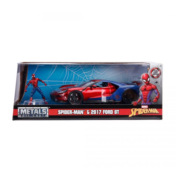 JAD99725 spiderman hollywood ride 3 600x600 - 1:24 Jada Hollywood Rides - 2017 Ford GT - Spider-Man