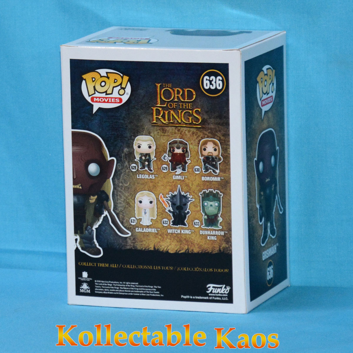 2019 ECCC - The Lord of the Rings - Grishnakh Pop! Vinyl Figure (RS) #636 +  Protector