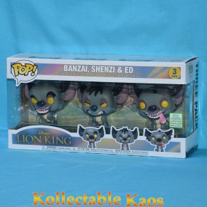 FUN36410 Lion King Hyenas Pop ECCC 1 300x300 - 2019 ECCC - The Lion King - Banzai, Shenzi & Ed Pop! Vinyl Figure 3-Pack (RS)