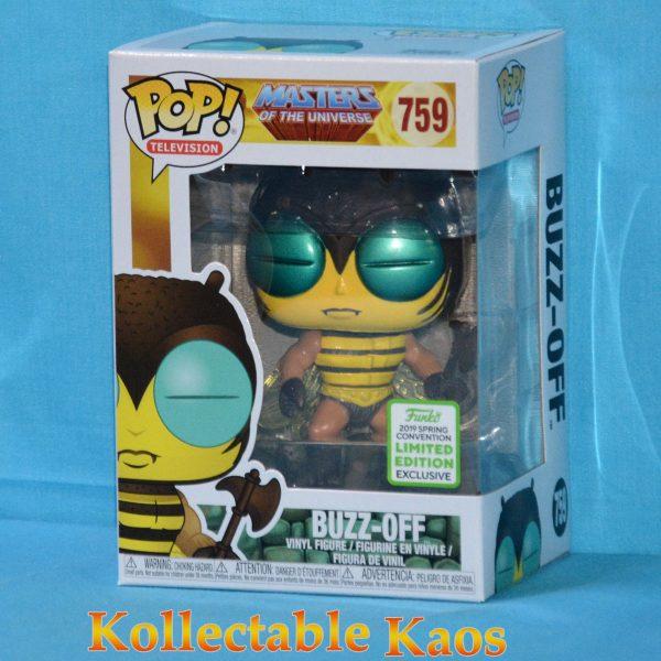 FUN37125 MOTU Buzz Off POP ECCC 1 600x600 - 2019 ECCC - Masters of the Universe - Buzz-Off Pop! Vinyl Figure (RS) #759 + Protector