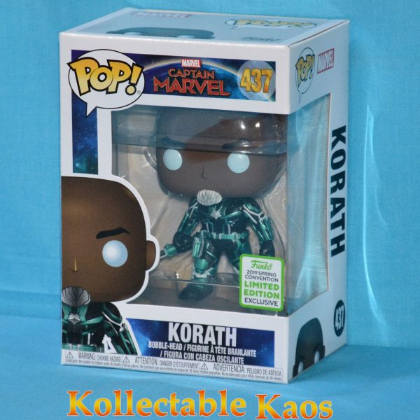 FUN37207 Marvel Captain Marvel Korath POP ECCC 1 600x600 - 2019 ECCC - Captain Marvel (2019) - Korath in Starforce Suit Pop! Vinyl Figure (RS) #437 + Protector