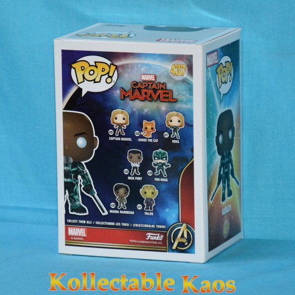 FUN37207 Marvel Captain Marvel Korath POP ECCC 2 600x600 - 2019 ECCC - Captain Marvel (2019) - Korath in Starforce Suit Pop! Vinyl Figure (RS) #437 + Protector