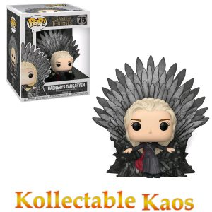 FUN37792 GOT Daenerys Iron Throne Pop 300x300 - Game of Thrones - Daenerys Targaryen on Iron Throne Deluxe Pop! Vinyl Figure #75