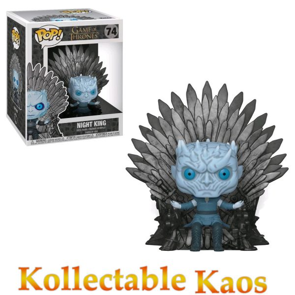 FUN37794 GoT Night King Pop 600x600 - Game of Thrones - Night King on Iron Throne Deluxe Pop! Vinyl Figure #74