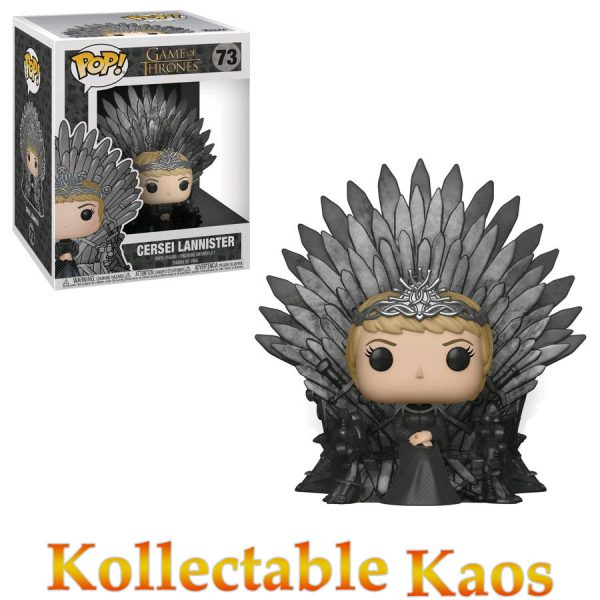Game of Thrones - Cersei Lannister on Iron Throne Deluxe Pop! Vinyl Figure