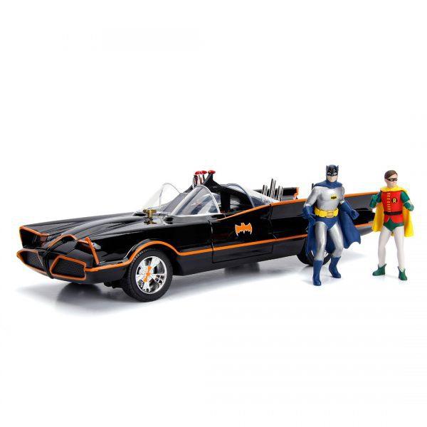JAD98625 1966 Batmobile with Figure 1 600x600 - 1:18 Jada - 1966 Classic TV Series Batmobile w/Batman Figure Movie