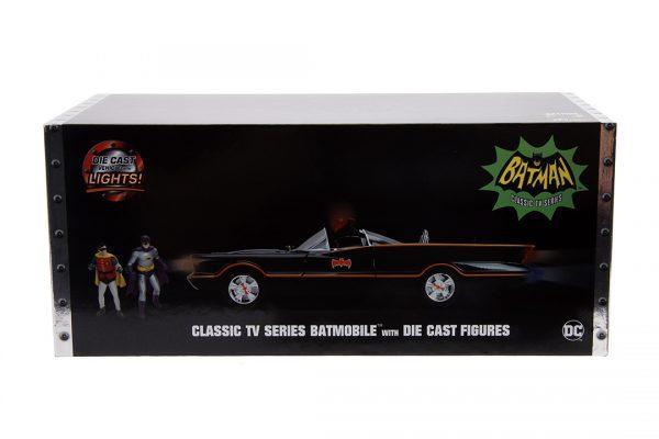 JAD98625 1966 Batmobile with Figure 5 600x400 - 1:18 Jada - 1966 Classic TV Series Batmobile w/Batman Figure Movie