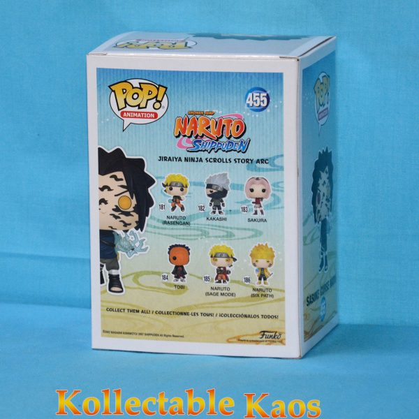 FUN35525 Naruto Sasuke Curse Pop 2 600x600 - Naruto: Shippuden - Sasuke with Cursed Mark Pop! Vinyl Figure (RS) #455 + Protector