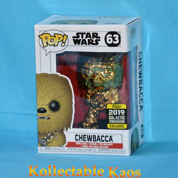 2019 Galactic Convention - Star Wars - Chewbacca Gold Chrome Pop! Vinyl Figure
