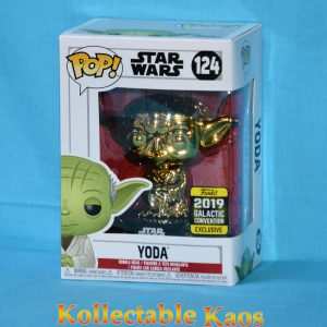 2019 Galactic Convention - Star Wars - Yoda Gold Chrome Pop! Vinyl Figure