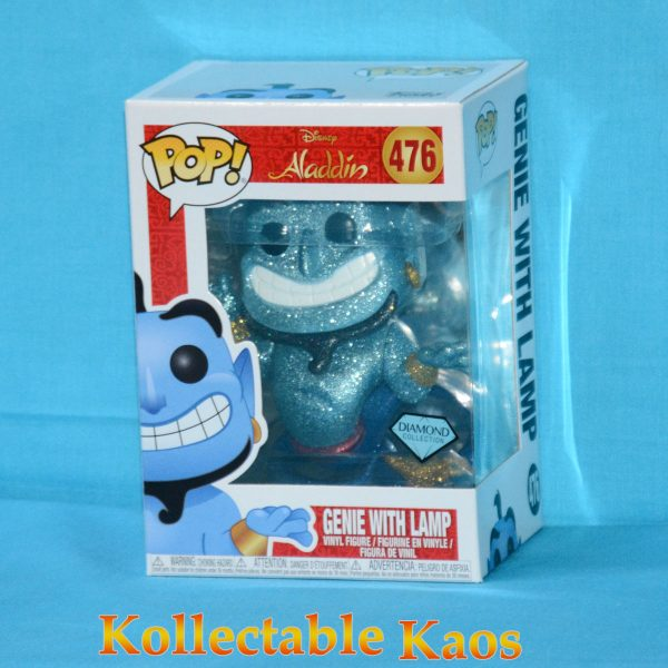 FUN38063 Aladdin S2 Genie With Lamp DGLT Pop 1 600x600 - Aladdin - Genie with Lamp Diamond Glitter Pop! Vinyl Figure (RS) #476
