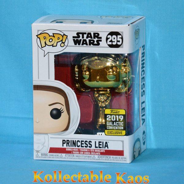 2019 Galactic Convention - Star Wars - Princess Leia Gold Chrome Pop! Vinyl Figure