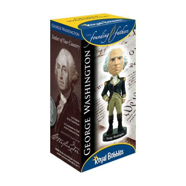 "RB01003 Bobblehead George Washington 2 600x600 - Bobblehead - George Washington 20cm(8"") Bobblehead"