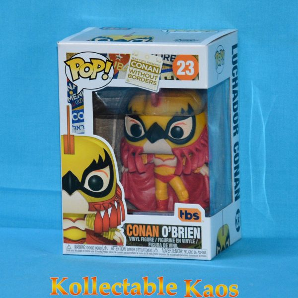 FUN34931 LuchadorConan WOB Pop 1 600x600 - Conan O'Brien - Conan as Luchador Pop! Vinyl Figure (RS) #23