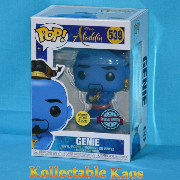 FUN37119 Aladdin Live Genie GITD Pop 1 600x600 - Aladdin (2019) - Genie Glow in the Dark Pop! Vinyl Figure (RS) #539