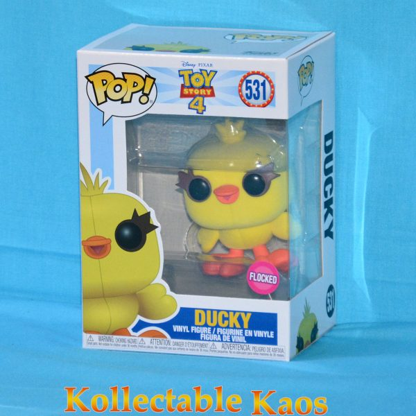 FUN37469 ToyStory4 Ducky FL Pop 1 600x600 - Toy Story 4 - Ducky Flocked Pop! Vinyl Figure (RS) #531