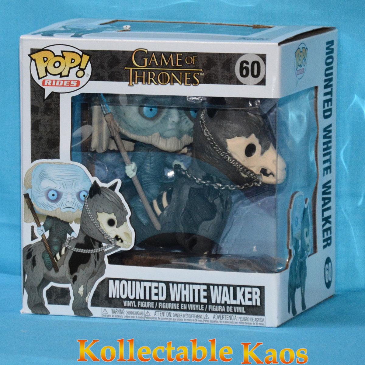Rides Vinyl Figure White Walker on Horse Pop Game of Thrones